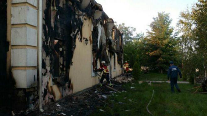 Киев пожар дом престарелых дом престарелых районах