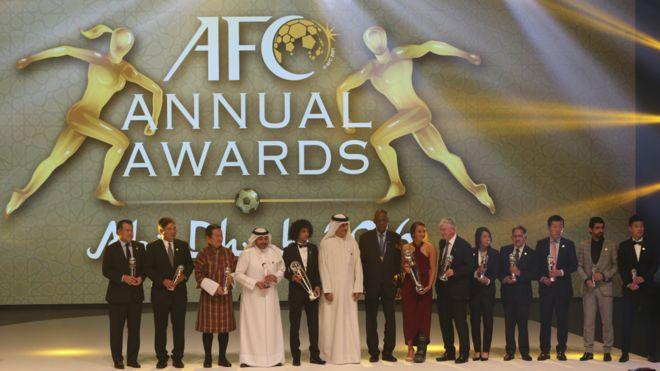 亚足联颁奖礼的全体获奖者