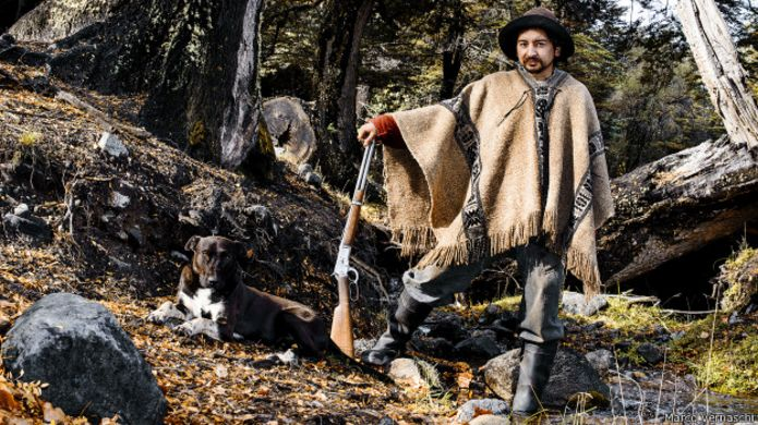 Miembro de la comunidad Mapuche, Argentina