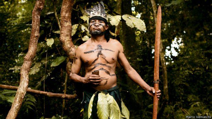 Representante de la comunidad Guaraní, Argentina