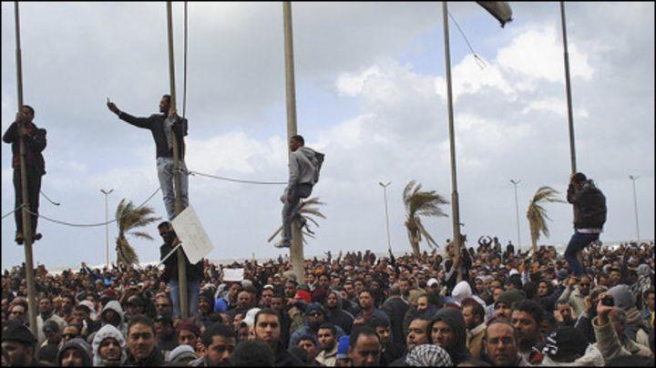 Hotuna: Zanga- zanga a Libya - BBC News Hausa