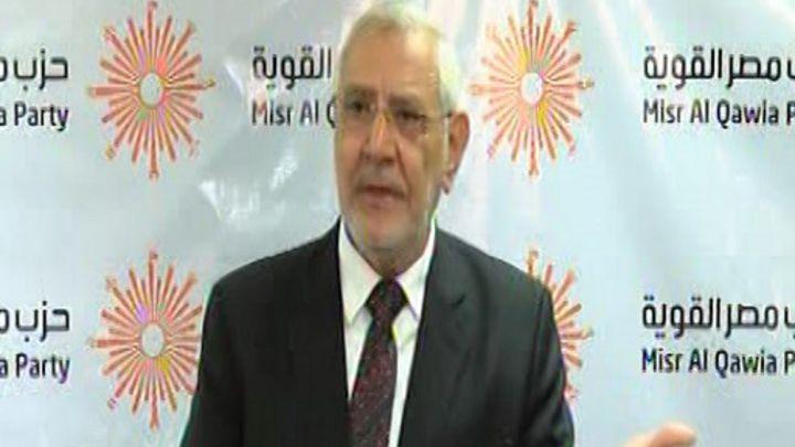 عبد المنعم أبوالفتوح رئيس حزب مصر القوية: لن أترشح للرئاسة بسبب جمهورية الخوف
