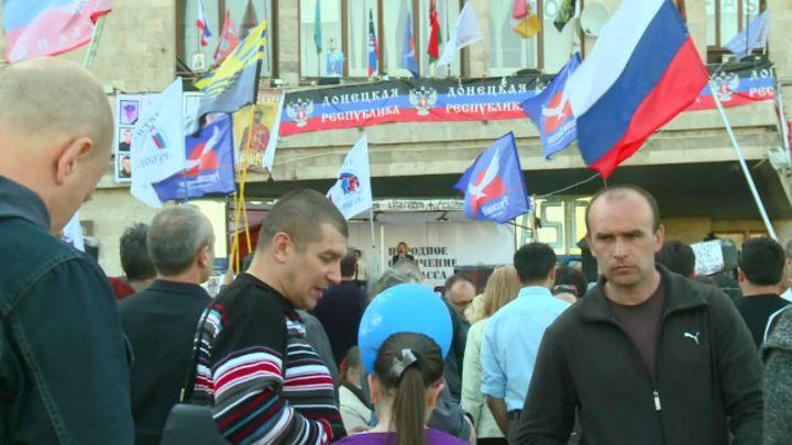 Активисты в Донецке готовятся к референдуму