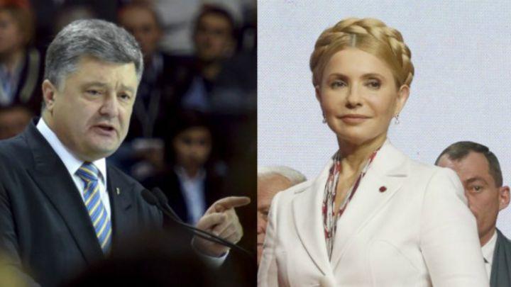 У президентському рейтингу Тимошенко трохи випереджає Порошенка
