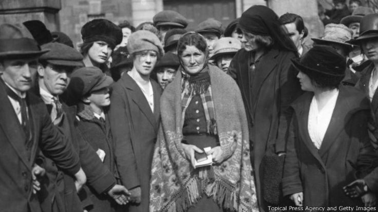 Marcha de protesta en Irlanda, 1921