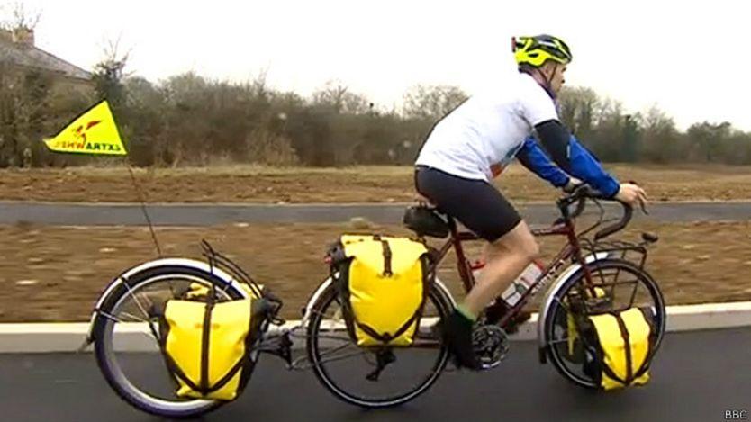 Graham en bici