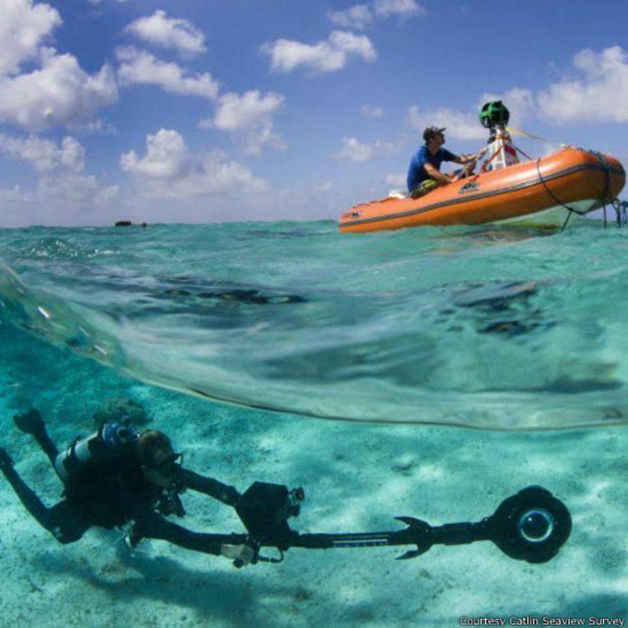 A beleza subaquática de Noronha pelas lentes do Google Maps