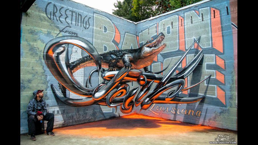 Las increíbles ilusiones ópticas del grafitero que crea imágenes en 3D