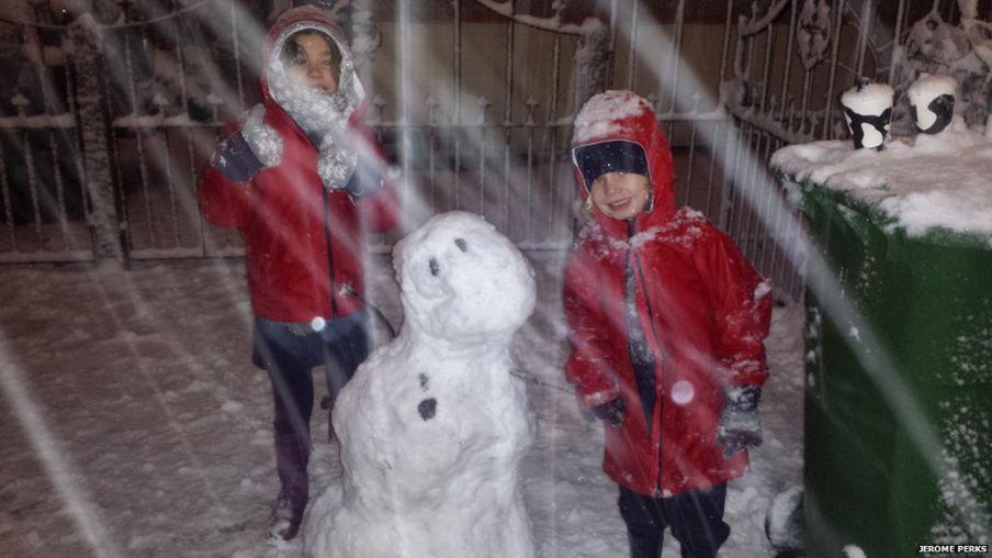 بالصور: الثلوج في بريطانيا
