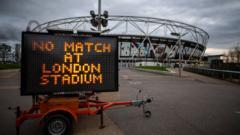 No match at London Stadium