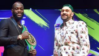 Tyson Fury (right) and Deontay Wilder