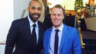 Thierry Henry and Mike Flynn