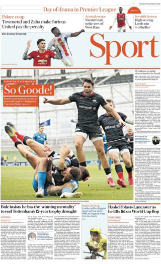 The Sunday Telegraph sports section