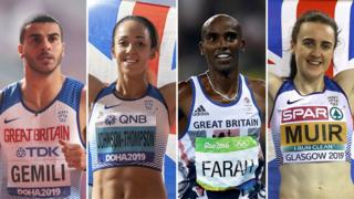 Adam Gemili, Katarina Johnson-Thompson, Mo Farah, Laura Muir