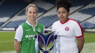 Hibernian's Joelle Murray (left) and Spartan's Kaela McDonald