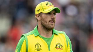 Australia captain Aaron Finch looks on during his side's World Cup semi-final defeat by England