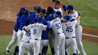 LA Dodgers celebrate World Series win