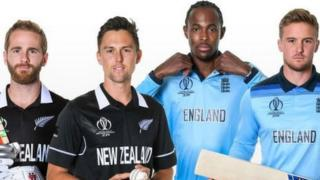 Kane Williamson, Trent Boult, Jofra Archer and Jason Roy line up in a split image