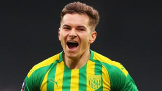 Conor Townsend celebrates after putting West Brom ahead