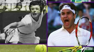 Billie Jean King and Roger Federer