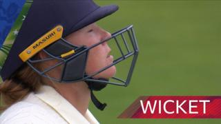 Anya Shrubsole is out for 11
