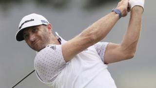 Dustin Johnson playing at the 2020 US PGA Championship