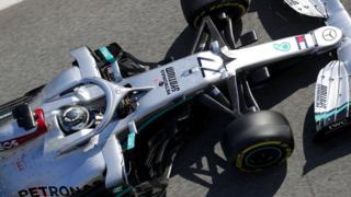 Bottas in the Mercedes