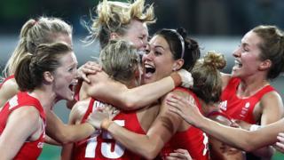 Britain's women's hockey team