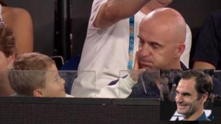 Roger Federer's son Lenny