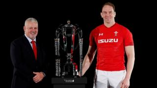 Wales head coach Warren Gatland and captain Alun Wyn Jones
