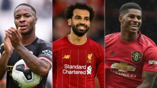 Raheem Sterling, Mohamed Salah & Marcus Rashford