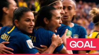 Marta scores penalty for Brazil