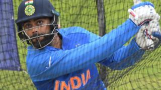 India captain Virat Kohli bats in the nets