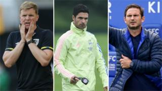 Howe; Arteta; Lampard