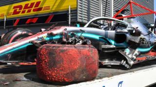 Hamilton's car is taken away