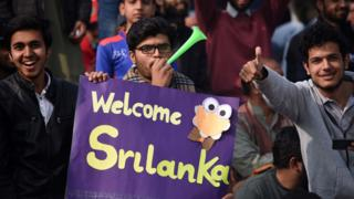 Fans at Pakistan v Sri Lanka in Rawalpindi