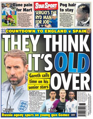 Daily Star back page on Thursday