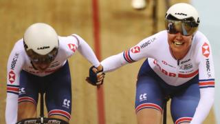 Great Britain's Elinor Barker (left) and Katie Archibald