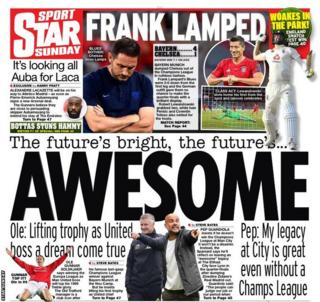 Northern Ireland The back page of the Star Sunday