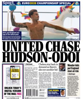 The Express claim Manchester United want Callum Hudson-Odoi