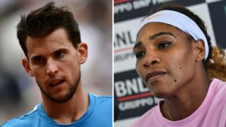 Dominic Thiem and Serena Williams