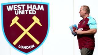 West Ham fan at the London Stadium
