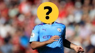 Sergio Aguero with a question mark graphic