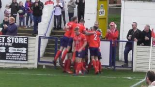 Bromsgrove Sporting celebrate