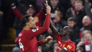 Mane and van Dijk celebrate