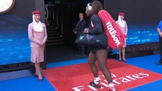 Serena Williams turns back