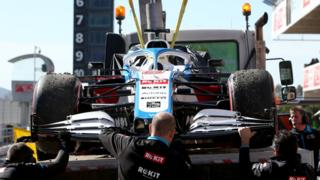 williams during f1 testing