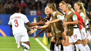 Canada's defender Kadeisha Buchanan celebrates