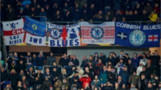 Chelsea fans at Slavia Prague