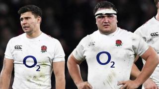 England players Ben Youngs and Jamie George